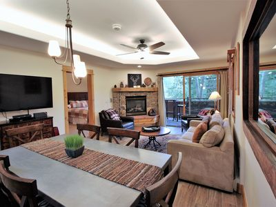 Photo for Bunk Beds, New Appliances, Ceiling Fans, Sleeps 6, Mountain Views, Walk To Slope