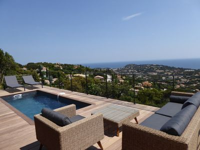 Photo for CAVALAIRE - VERY BEAUTIFUL SEA VIEW - RENOVATED VILLA FULL SOUTH - HEATED SWIMMING POOL