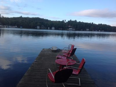 Photo for 2 story Vintage Muskoka Cottage with 2 docks overlooking Port Carling