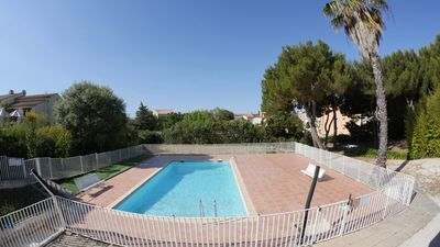 Photo for Duplex, swimming pool, 85m² terrace at the foot of the beaches