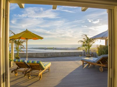 Photo for Oceanfront Faria Beach - Cozy Family Beach Home With Separate Cabana