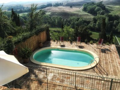 Photo for Pasqui Villas:  Capanna ,country chic house in a village: garden,pool,view,WIFi