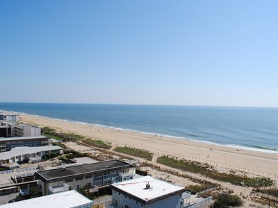 Photo for Cute, cozy 2 bedroom oceanfront condo with free WiFi, a great ocean view, and awesome amenities including indoor/outdoor pools and a game room located uptown!