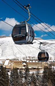 The Riverfront Express Gondola provides a direct connection to the slopes of Beaver Creek.