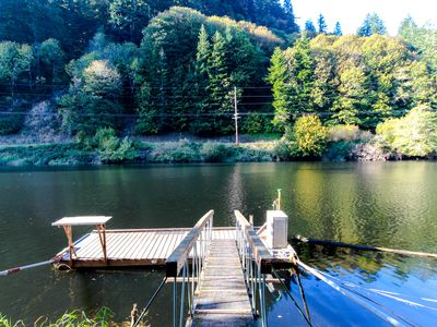 Photo for Recently remodeled home on the Alsea River w/ private dock!