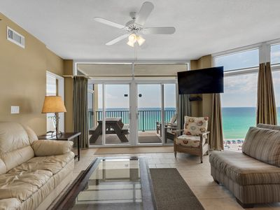 Photo for Comfortable beachfront unit, Beach setup included, Quick drive to dining