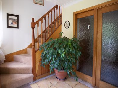 View of the staircase leading to the apartment (12 steps).