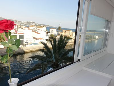 Photo for MAGNIFICENT APARTMENT in front of the sea- Spectacular views of the Gulf of Roses