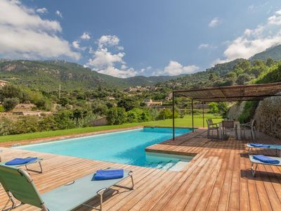 Photo for Villa Es Port with pool, garden and panoramic sea and mountain views