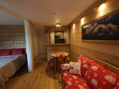 Photo for Superb apartment completely renovated with breathtaking views of Mont Blanc