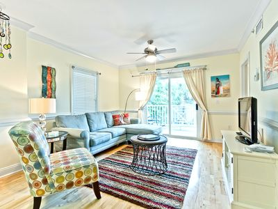 Photo for Nicely Furnished 2BR Condo in Great South Island Location Less than 1 Block to Beach