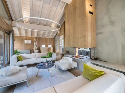 Photo for Chalet Kibo : Huge living room with panoramic view for this luxury chalet
