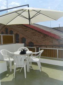 Photo for Sitges centre. Free Wi-Fi. Apartment with terrace, 20 meters to beach. Very calm
