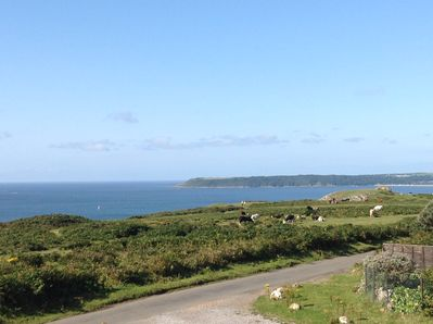 Spectacular views of Oxwich from the parking area in front of  main house