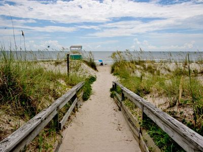 """Photo for """"Wade In"""" to this charming ocean front cottage, in the heart of Carolina Beach."""