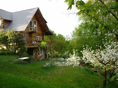 Photo for Private and artistic log cabin, bring your pets and enjoy the best of Vermont