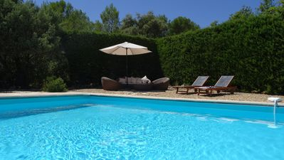Photo for Charming bastide house in 7 acres of vines, olives and woodland