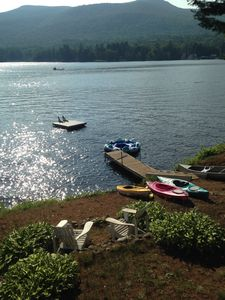 Photo for Lake Algonquin Wells NY scenic year round 4 bedroom on lake