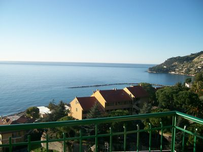 Photo for Sea view-Independent apartment La Terrazza for 4 people