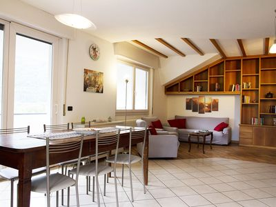 Photo for Bright and cozy apartment in the heart of the Valtellina - 7 beds