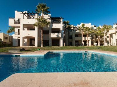 Photo for luxurious 2 bedroom,2 bathroom ground floor apartment adjacent to pool Sleeps 6