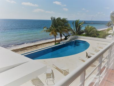 Photo for Fabulous Beachfront 3br/3ba condo for your Puerto Morelos relaxing vacation!