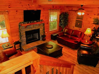 Photo for Crimson Moon, Peaceful Cozy Cabin on a Private Wooded Lot, 3 miles from the Pkwy