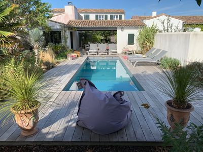 Photo for Le Bois Plage En Re: House with character with swimming pool