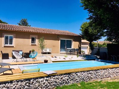 Photo for nice villa with pool near d avignon