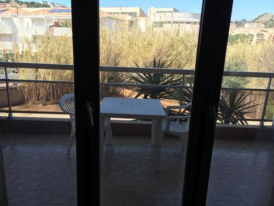 Photo for Studio near the beach of Calvi, the city center with large balcony.