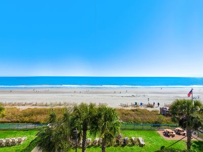Spectacular oceanfront views from this beachfront condo, includes wifi and pool