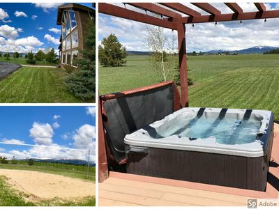 Photo for Luxurious, Private Cabin with Hot Tub and Volleyball Court, 4 Acres