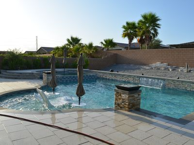 Photo for 3 Bedroom,2 1/2 Bathroom/ Salt water Pool/Spa/ Mountain View Single family Home