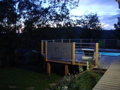 Photo for Wooden house with swimming pool