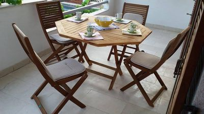 Photo for Two bedroom apartment with terrace Jelsa, Hvar (A-11319-a)