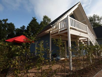 Photo for Comfortable 2014 newly constructed cottage in Robel / Müritz - Mecklenburg Lake District. Apartment on the ground floor or first floor, living area with full kitchen, dining area, sitting area, radio, TV, 2 double bedrooms, shower / WC, sauna, terrace or Balcony.