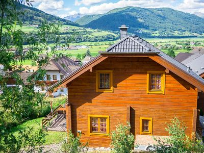 Photo for Wooden house m. Mountain view, ski slope 300 m, hiking trails, holiday village Aineck Katschberg
