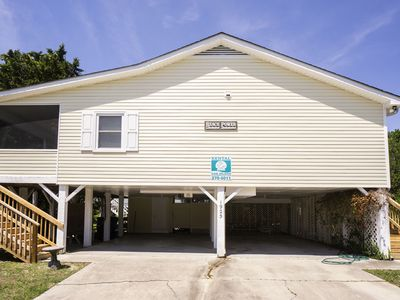 Photo for Beach Power: 4 Bed/2 Bath Traditional Home with Screened Porch, 170 feet to Beach Access