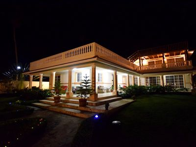 Photo for Beachfront 7 bedroom oceanfront asian villa close to Cabarete, guest-friendly