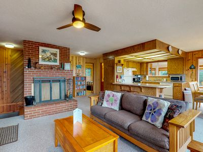 Photo for Dog-friendly home with ocean views, easy beach and bay access & a shared pool!