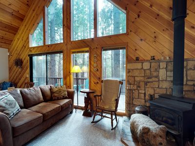 Photo for Private dog-friendly home with shared pool near skiing, hiking, biking