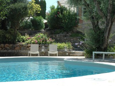 Photo for air-conditioned villa - cannes center 2min from the beaches - 8 pers- private pool