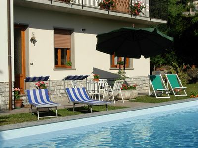 Photo for Casa Massimo with a private pool and wi-fi, near restaurant in medieval village