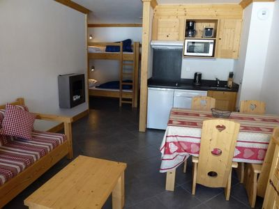 Photo for Surface area : about 39 m². Living room with bed-settee or 2 bunk beds, fireplace