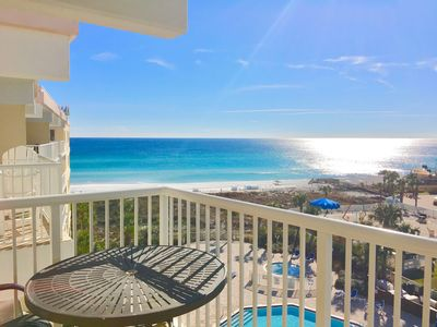 Gorgeous view from balcony of sugar beaches!