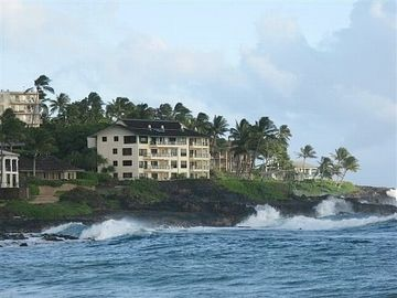 The Penthouse at Poipu Shores 406A, Oceanfront With Best View in Poipu, A/C