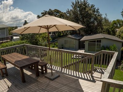 Photo for Two Baches & Sleepout  On One Site - 200m from beach & estuary