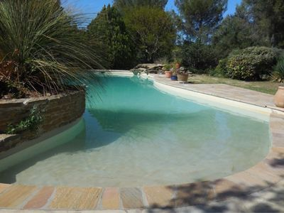 Photo for Villa with heated pool, close to beaches, Castellet circuit and Bandol vineyards