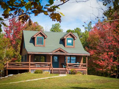 Photo for BEAUTIFUL CABIN NEAR WHITEFACE  WITH FIRE PIT AND WRAP AROUND PORCH