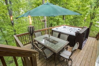 Deck and hot tub for 6